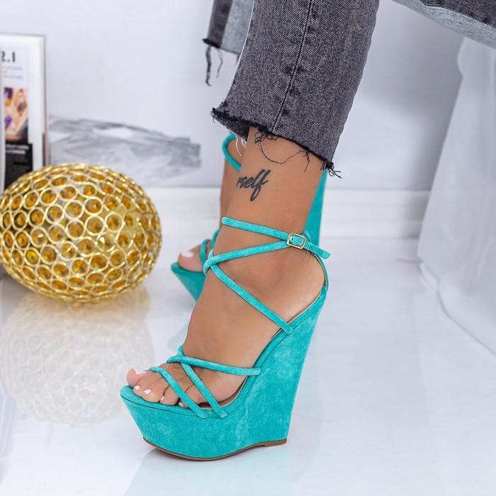 Sandale Dama cu Platforma XKK300 Albastru Mei