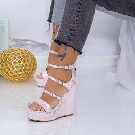 Sandale Dama cu Platforma XKK511 Roz Mei