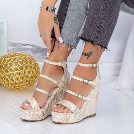 Sandale Dama cu Platforma XKK511 Bej Mei