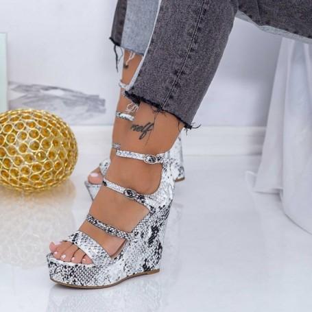 Sandale Dama cu Platforma XKK511 Alb Mei