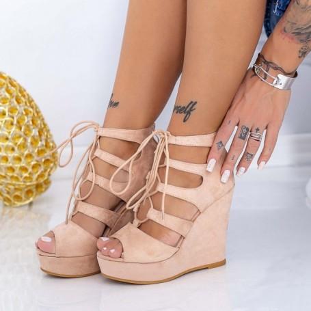 Sandale Dama cu Platforma HXS16 Nude Mei