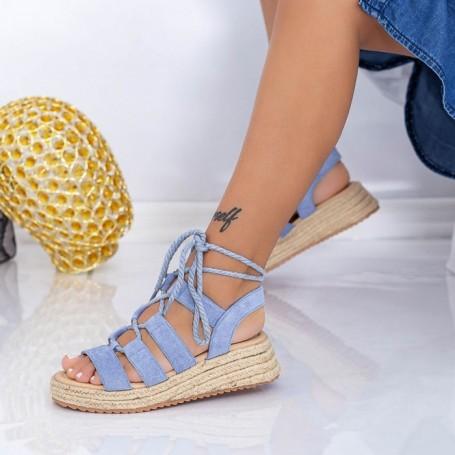 Sandale Dama cu Platforma LE220 Albastru Mei