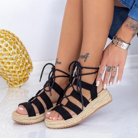 Sandale Dama cu Platforma LE220 Negru Mei