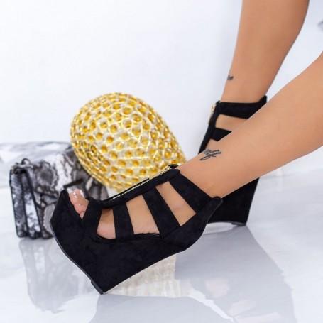 Sandale Dama cu Platforma XKK513 Negru Mei