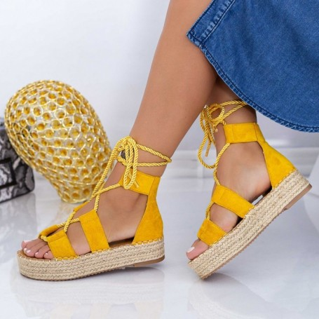 Sandale Dama LE221 Galben Mei