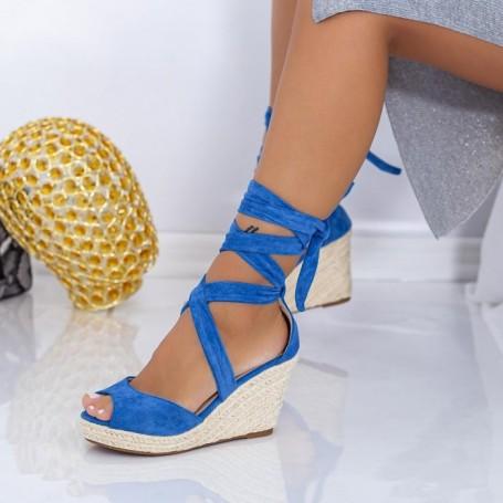 Sandale Dama cu Platforma LE223 Albastru Mei