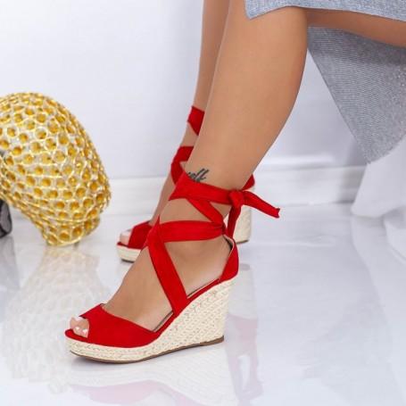 Sandale Dama cu Platforma LE223 Rosu Mei