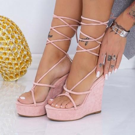 Sandale Dama cu Platforma XKK290 Roz Mei
