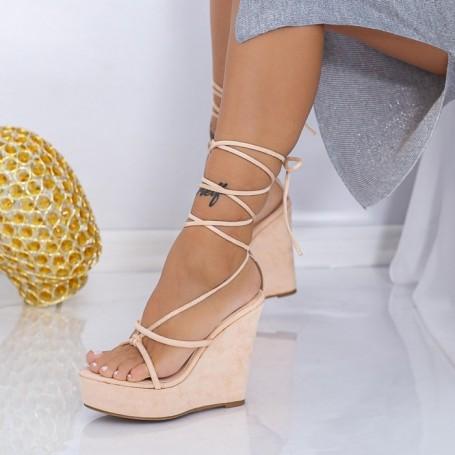 Sandale Dama cu Platforma XKK290 Bej Mei