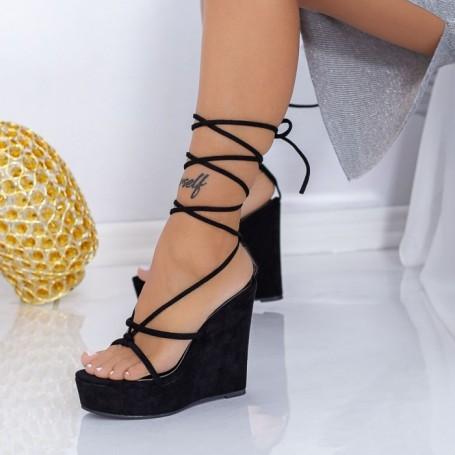 Sandale Dama cu Platforma XKK290 Negru Mei
