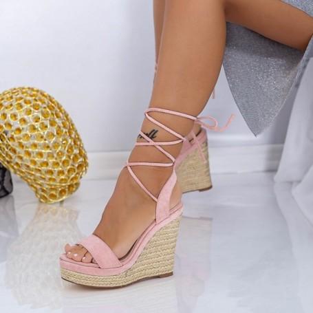 Sandale Dama cu Platforma XKK302 Roz Mei