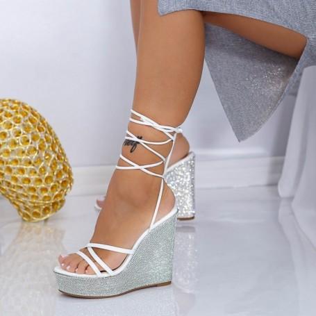 Sandale Dama cu Platforma XKK305 Alb Mei