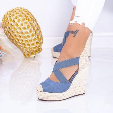 Sandale Dama cu Platforma LE213 Albastru Mei
