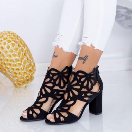Sandale Dama cu Toc gros TY3 Negru Mei