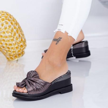 Papuci Dama cu Platforma WEN2 Guncolor Mei