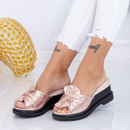 Papuci Dama cu Platforma WEN2 Champagne Mei