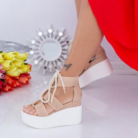 Sandale Dama cu Platforma LM301 Roz Mei