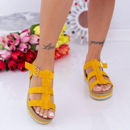 Sandale Dama LM308 Galben Mei
