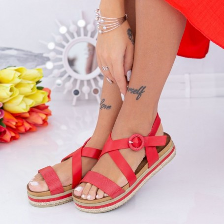 Sandale Dama LM318 Rosu Mei