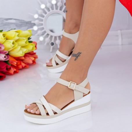 Sandale Dama cu Platforma LM325 Bej Mei