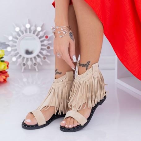 Sandale Dama QZL269 Bej Mei