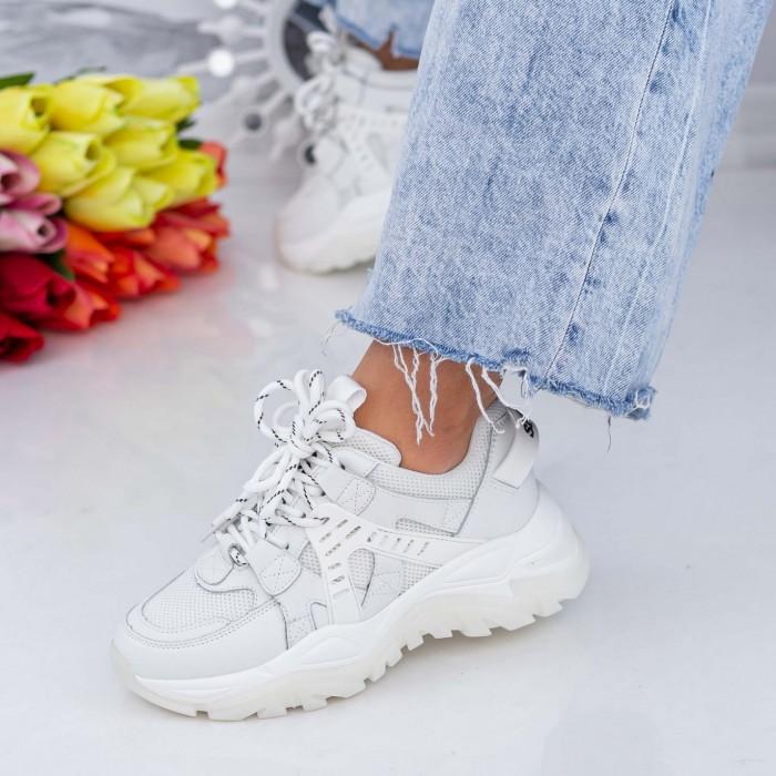 Pantofi Sport Dama SZ321 Alb Mei