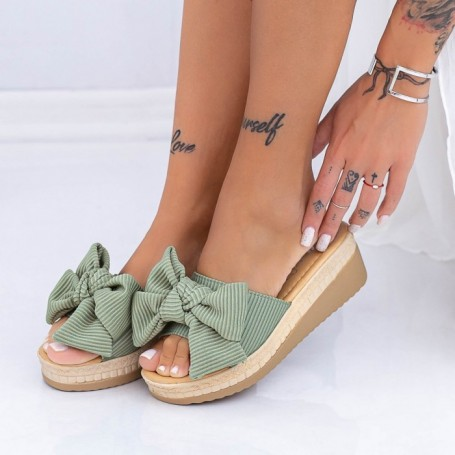 Papuci Dama XN38 Verde Mei
