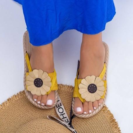 Papuci Dama WLML1 Galben Mei