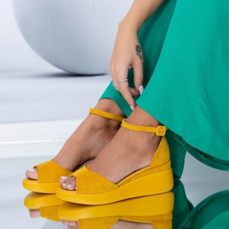 Sandale Dama HXS6 Galben Mei
