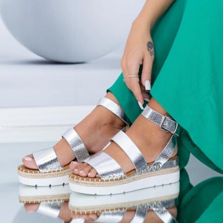 Sandale Dama LE212 Argintiu Mei
