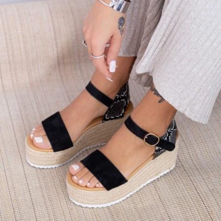 Sandale Dama cu Platforma FS51 Negru Mei