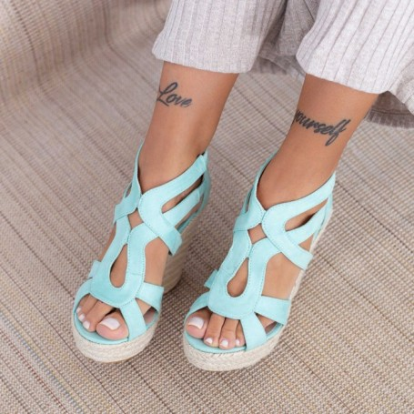 Sandale Dama cu Platforma HXS12 Albastru Mei
