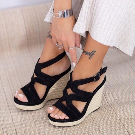 Sandale Dama cu Platforma HXS15 Negru Mei