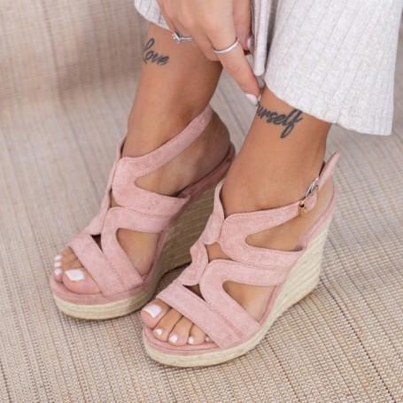 Sandale Dama cu Platforma HXS15 Roz Mei