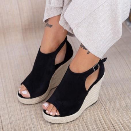 Sandale Dama cu Platforma HXS17 Negru Mei