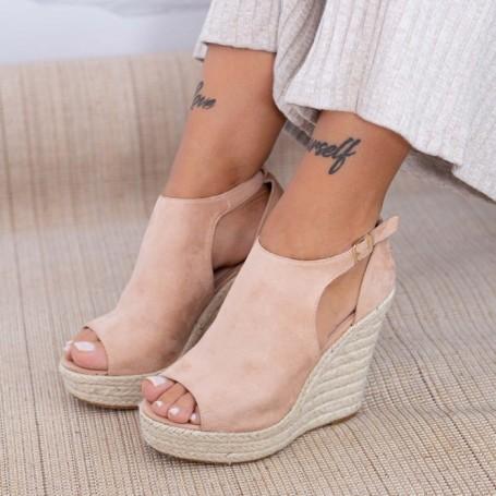 Sandale Dama cu Platforma HXS17 Nude Mei