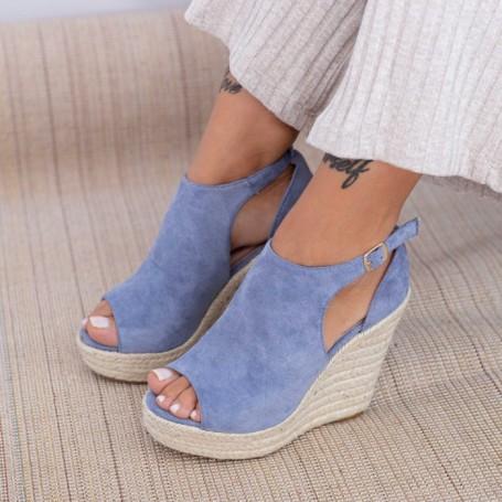 Sandale Dama cu Platforma HXS17 Albastru Mei