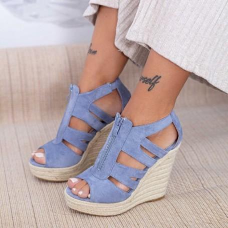Sandale Dama cu Platforma HXS19 Albastru Mei