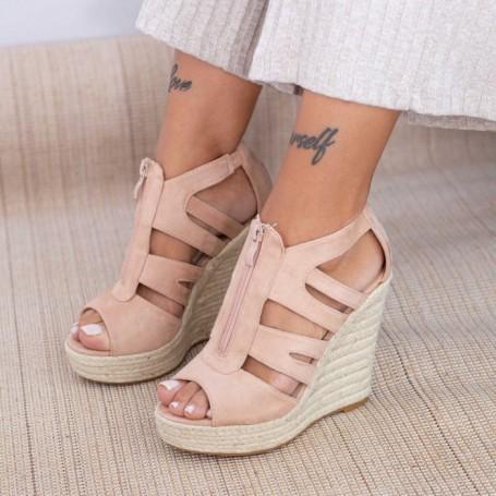 Sandale Dama cu Platforma HXS19 Nude Mei