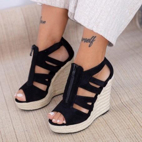 Sandale Dama cu Platforma HXS19 Negru Mei