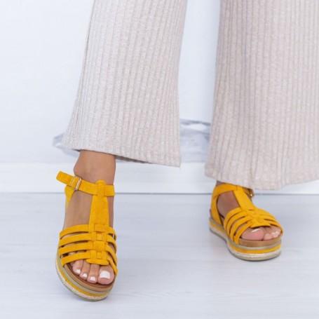 Sandale Dama LM306 Galben Mei