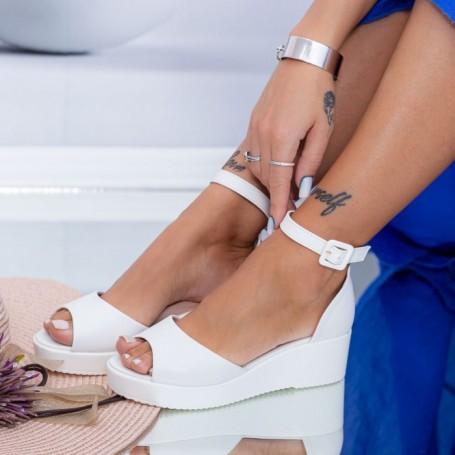 Sandale Dama cu Platforma HXS3 Alb Mei