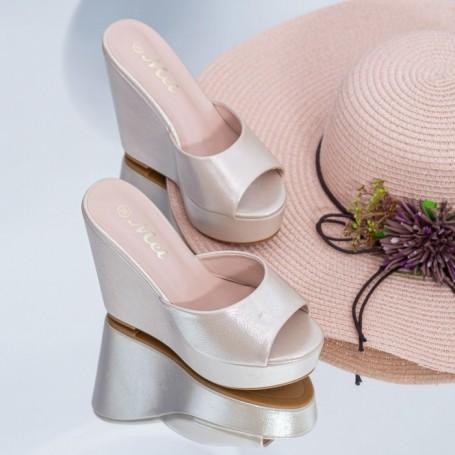 Papuci Dama cu Platforma HXS5 Auriu Mei