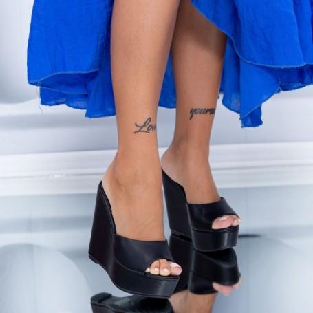 Papuci Dama cu Platforma HXS5 Negru Mei