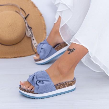 Papuci Dama WS197 Albastru Mei