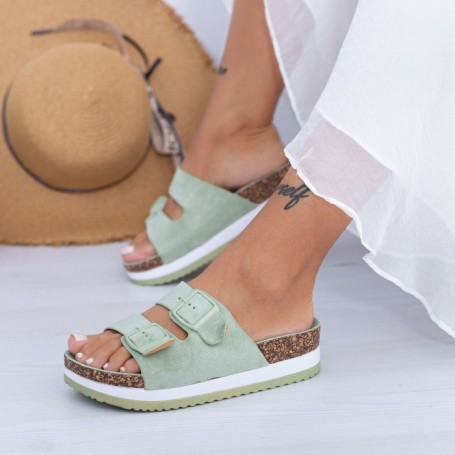 Papuci Dama WS198 Verde Mei