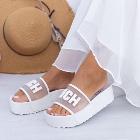 Papuci Dama X7 Alb Mei