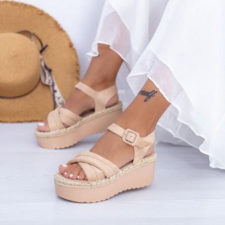 Sandale Dama cu Platforma KMD1 Piersica Mei