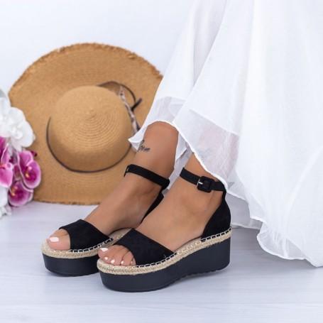 Sandale Dama cu Platforma KMD2 Negru Mei