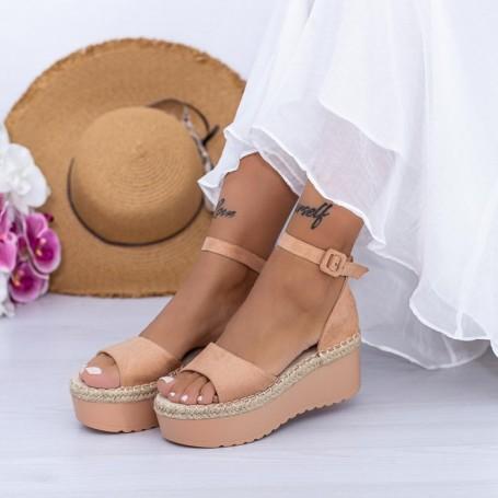 Sandale Dama cu Platforma KMD2 Nude Mei